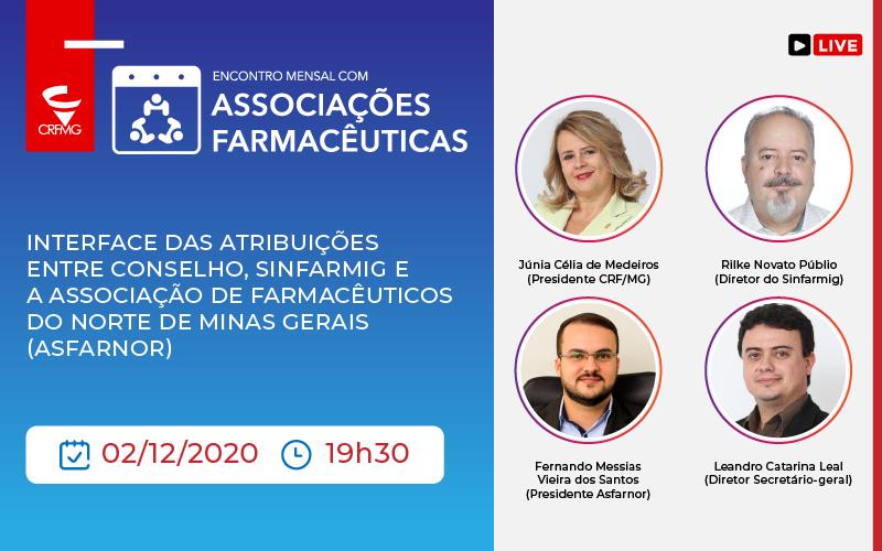 A Associação de Farmacêuticos do Norte de Minas é a convidada para o encontro mensal como CRF/MG e Sinfarmig